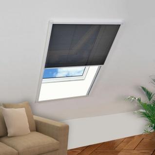 vidaXL Insektenschutz-Plissee für Fenster Aluminium 120x160 cm