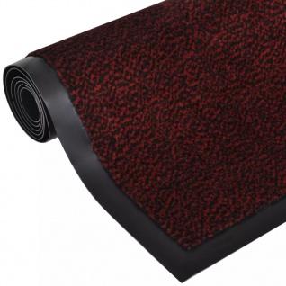 Fußmatte Fußabtreter rutschfest rechteckig 90 x 60 cm rot