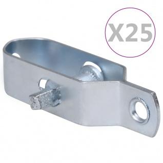 vidaXL Zaun-Drahtspanner 25 Stk. 100 mm Stahl Silbern