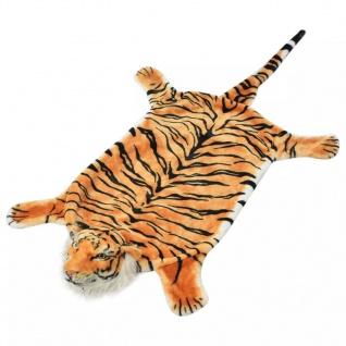 vidaXL Tigerfell Teppich Plüsch 144 cm Braun
