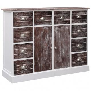 vidaXL Sideboard mit 10 Schubladen Braun 113 x 30 x 79 cm Holz