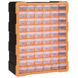 vidaXL Multi-Schubladen-Organizer mit 60 Schubladen 38x16x47, 5 cm