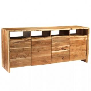 vidaXL Sideboard Massives Akazienholz Naturkanten 180 x 43 x 77 cm