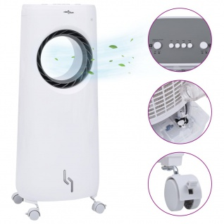 vidaXL 2-in-1 Mobiler Luftkühler Luftbefeuchter 80 W