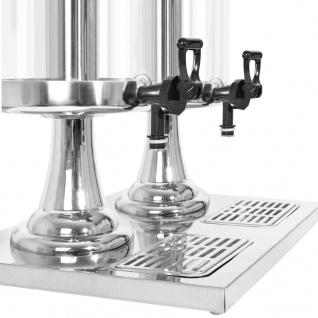 vidaXL Getränkespender 2-fach Edelstahl 2 x 8 Liter - Vorschau 5