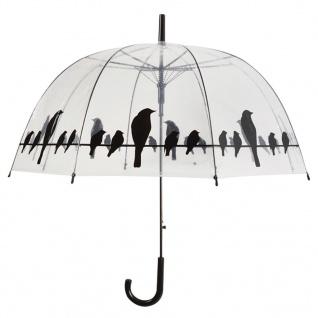 Esschert Design Regenschirm Vögel auf Stromleitung Transparent TP166