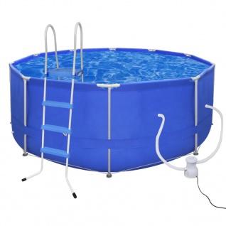 Schwimmbad Pool 367 x 122 cm + Leiter + Pumpe