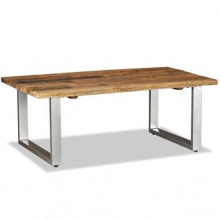 vidaXL Couchtisch Recyceltes Bahnschwellen-Holz Massiv 100x60x38 cm