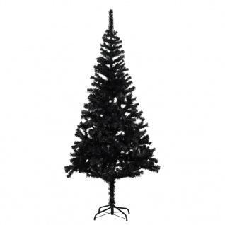 vidaXL Künstlicher Weihnachtsbaum mit Ständer Schwarz 180 cm PVC