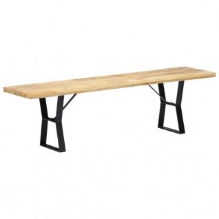 vidaXL Sitzbank 160 cm Massivholz Mango