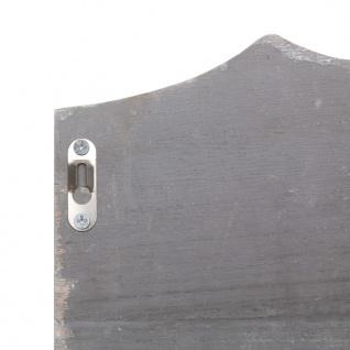 vidaXL Wandgarderobe Grau 50×10×23 cm Holz - Vorschau 5