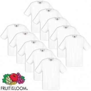 10 x Fruit of the Loom Original T-Shirt 100% Baumwolle Weiß XL