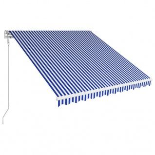 vidaXL Automatisch Einziehbare Markise 350×250 cm Blau und Weiß