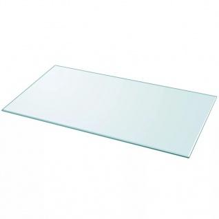 vidaXL Tischplatte aus gehärtetem Glas rechteckig 1200x650 mm