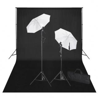 vidaXL Fotostudio-Set mit Schwarzem Hintergrund 600×300 & Leuchten