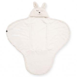 Jollein Baby-Wickeldecke Bunny Cremeweiß