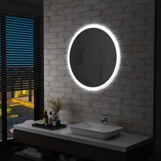 vidaXL Badezimmerspiegel mit LED 80 cm