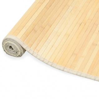 vidaXL Teppich Bambus 80 x 300 cm Natur