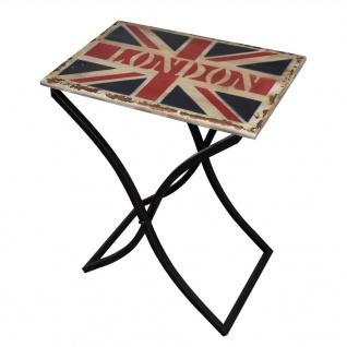vidaXL Beistelltisch Holz mit Union Jack Design