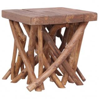 vidaXL Couchtisch aus Baumstämmen 40x40x40 cm Massivholz