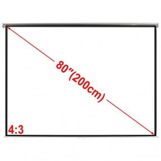 Manuelle Projektionswand Leinwand 160x123cm 4:3 Wand-Deckenhalterung