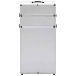 vidaXL Kosmetikkoffer Aluminium Silbern - Vorschau 3