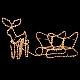 vidaXL Weihnachtsbeleuchtung Rentier und Schlitten 110×24×47 cm