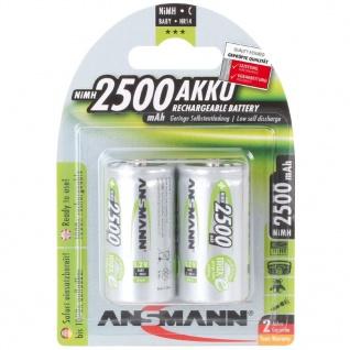 Ansmann Wiederaufladbare Batterien 2 Stk. NiMH 2500 mAh 5030912