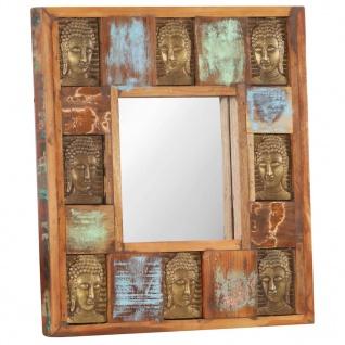 vidaXL Spiegel mit Buddha-Verzierung 50x50 cm Recyceltes Massivholz