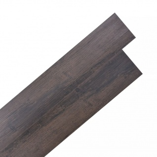 vidaXL PVC Laminat Dielen Selbstklebend 5, 02 m² 2 mm Dunkelbraun