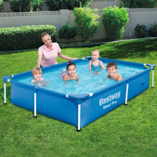 Bestway Steel Pro Swimming Pool mit Stahlrahmen 221x150x43 cm 56401