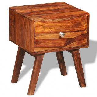 vidaXL Nachttisch mit 1 Schublade 55 cm Massivholz Sheesham