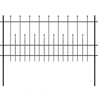 vidaXL Dekorativer Sicherheits-Palisadenzaun Stahl 600×100 cm