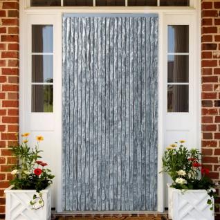 vidaXL Insektenschutz-Vorhang Weiß und Grau 100x220 cm Chenille