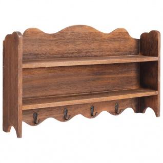 vidaXL Wandgarderobe Braun 50 x 10 x 30 cm Holz