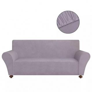 vidaXL Sofahusse Sofabezug Stretchhusse Grau Polyester-Jersey