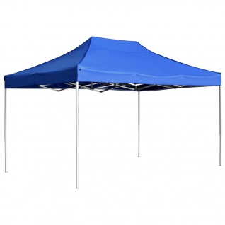vidaXL Profi-Partyzelt Faltbar Aluminium 4, 5x3 m Blau