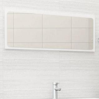 vidaXL Badspiegel Weiß 100x1, 5x37 cm Spanplatte