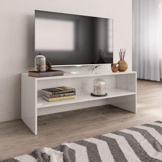 vidaXL TV-Schrank Hochglanz-Weiß 100 x 40 x 40 cm Spanplatte