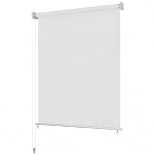 vidaXL Außenrollo 140 x 230 cm Weiß