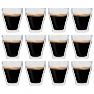 vidaXL Doppelwandige Latte-Macchiato-Gläser 12 Stk. 280 ml