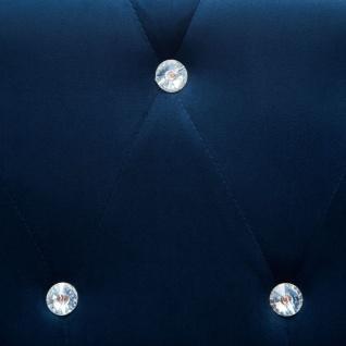 vidaXL Chesterfield Sofa L-förmig Samtbezug 199x142x72 cm Blau - Vorschau 2