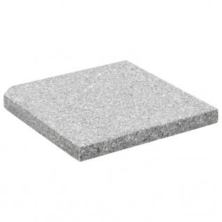 vidaXL Sonnenschirm-Gewichtsplatte Granit 25 kg Quadratisch Grau