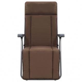 vidaXL Klappbare Gartenstühle mit Auflagen 2 Stk. Braun - Vorschau 3