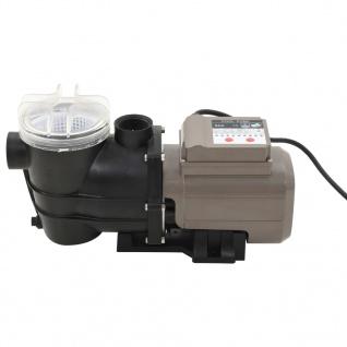 vidaXL Poolpumpe mit Timer Schwarz 0, 25 PS 8000 L/h