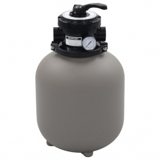 vidaXL Pool-Sandfilter mit 4-Wege-Ventil Filterkessel Grau 350 mm