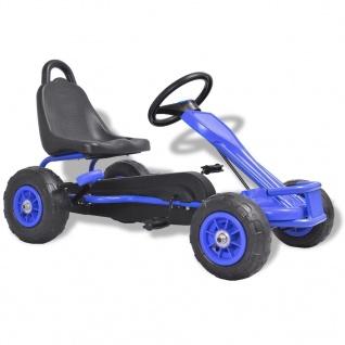 vidaXL Pedal Go-Kart mit Luftreifen Blau - Vorschau 1
