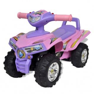 Pinkes Kinder-Aufsitz-Quad mit Sound und Licht