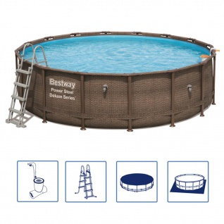 Bestway Power Steel Swimmingpool-Set Deluxe Series Rund 488×122 cm