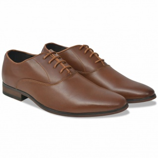 vidaXL Business-Schuhe Herren Schnürschuhe Braun Größe 40 PU-Leder